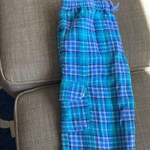 LL bean girls flannel cargo pajama pants 5-6